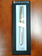Sheaffer Prelude Signature Silver Plate Snakeskin Engraving W/22k Gold Plate