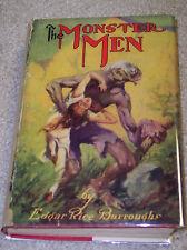 THE MONSTER MEN Edgar Rice Burroughs G&D reprint 1931 facsimile Dust Jacket