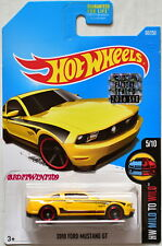 HOT WHEELS 2016 HW MILD TO WILD 2010 FORD MUSTANG GT #5/10 YELLOW FACTORY SEALED