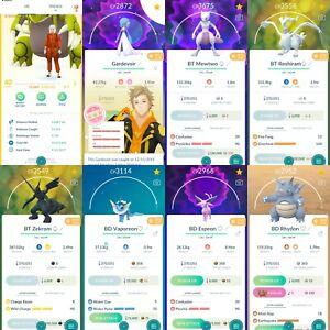 Pokémon Account Go Level 40   127 Shiny   272 Legendary   202, 4* (RARE)
