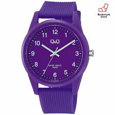 New CITIZEN Q&Q Watches Purple Waterproof Urethane Belt Men's VS40-008 F/S