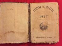 Garbini Milano-STRENNA ILLUSTRATA 1877. completa di molte incisioni,molto rara