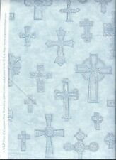 CROSS CROSSES Religious Christian Catholic Quilt Cotton Fabric ~ Sold by ½ YARD