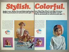 Girls World 6-Page  PRINT AD - 1971 ~ Buffy, Family Affair ~ Milton Bradley toy