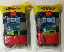 20 Total Medium 10-12 10 Pack 2 LOT Boys Hanes Tagless Boxer Briefs