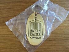 Gold Rolls Royce Keyring Plated with 22ct - Oxford Range - Made in England