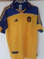 Sweden National Team 2000/2002 Home FOOTBALL JERSEY Shirt Size S