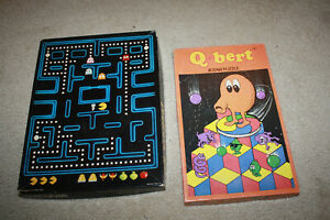 Vintage Q*bert & Pac-Mania Puzzle Lot - T1110