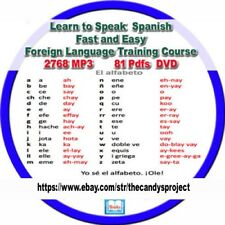 Learn To Speak Spanish Fast 2768 Mp3s  Easy Foreign Language Training Course DVD