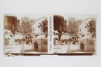 Algeri Algeria Moschea Sidi Abd Placca Da Lente Stereo Positive Vintage 6x13 CM