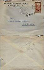 VILLANUOVA SUL CLISI stampatello+annullo muto 30.3.1953-25L(643)busta x Brescia