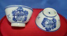 antique blue & white porcelain bowls