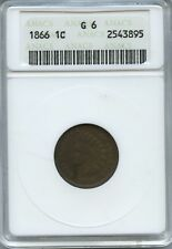 1866 INDIAN CENT OLD ANACS MINI GOOD 6 NICE HONEST WEAR EVEN COLOR BROWN