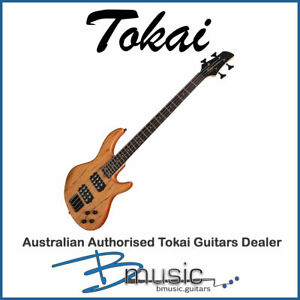 NEW Tokai CB4-NS Mahogany & Spalted Maple T-Style Contemporary Electric Bass