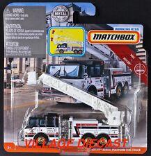 2019 Matchbox Working Rigs Pierce® Velocity® Fire Truck WHITE / JENSEN, NY / MOC