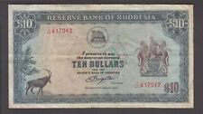 Rhodesia banknote P. 41-7042 10 Dollars 2.1.1979 Pfx J/41, F  We Combine