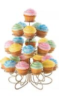 Wilton Cupcakes N' More Mini Dessert Stand, 3 Tier Holds 24 Mini Cupcakes~New
