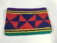 Vintage Guatemalan Hand Woven Coin Purse Purple & Red Pouch Wallet NOS