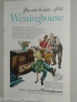 1948 Westinghouse advertisement, radio-phonograph, JITTERBUG dancing teens
