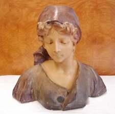 BUSTE de FEMME signé Auguste CARLI (artiste Marseillais) fin XIX