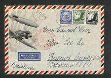 Germany cover sent by air mail to Argentina in 1935 c582