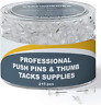 Clear Push Pins for Bulletin Board Thumb Tacks Heavy Duty Plastic Head Steel Pin
