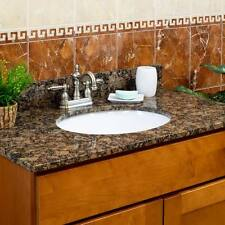 """61"""" Vanity top 2 sinks 4"""" spread Granite Baltic Brown by LessCare (Pick-Up Only)"""