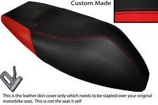 RED & BLACK CUSTOM FITS APRILIA AREA 51 50 DUAL LEATHER SEAT COVER