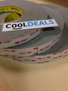 3M VHB RP25 RP45 RP62 Double Sided Adhesive Foam Bonding Tape 1-20 metre Rolls
