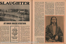 Wild Bill Hickok & Brutal Slaughter At Rock Creek Station of David C. McCanles