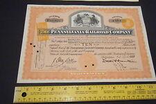 Pennsylvania Railroad Bond with Netherlands Revenue Tax Rubbings -- SUPER Item