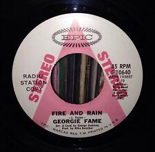 PROMO Georgie Fame - Fire & Rain / Movie Star Song 45 James Taylor Paul WIlliams