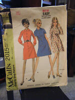Vintage McCall's 2015 Misses Dress in 3 Versions Pattern - Size 12 Bust 34