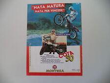 advertising Pubblicità 1986 MOTO MONTESA COTA 50 e DIEGO BOSIS
