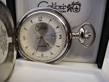 New As-Is Clearance Colibri Silvertone Pocketwatch Date