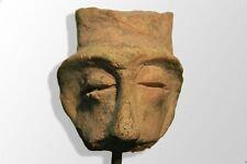 tête ancienne en terre cuite (Asie)