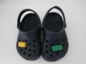 CROCS Kids LEGO  Navy / Blue Clogs Sandals Shoes Size UK 4-5 Infant