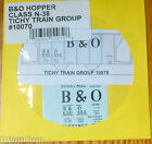 Tichy Train Group #10070 Decal for: Baltimore & Ohio Class N-38 2-Bay Covered Ho