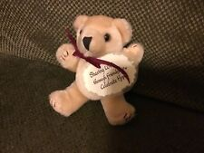 """5"""" Jointed Teddy Plush Tan Teddy Bear: Celebrate Hope Message"""