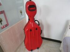 Red fiberglass cello hard case w/ wheells ,Shoulder straps,High quality red 3/4