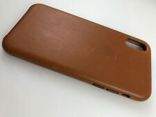 Original OEM Authentic Apple genuine Leather Case for iPhone X XS Saddle Brown