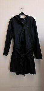 Rains Belt Jacket Black size S/M {Z163}