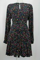 Whistles V-Neck Multi-Coloured Dotted Dress Size 14 UK/ 42 EU/ 10 US (RRP £149)