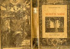 """ANTON FRANCESCO DONI 1925 """" SCRITTI VARII"""" CLASSICI DEL RIDERE"""
