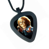 Pickbandz Childs Play Chucky Doll Mens or Womens Real Guitar Pick Necklace