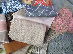 2 KILO UPHOLSTERY FABRIC REMNANT BUNDLE, SUITABLE CRAFTS, PATCHWORK, QUILTING...