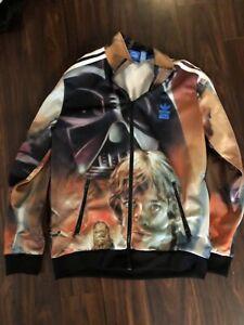 Adidas Originals Star Wars Luke Skywalker Boy' Track Jacket.Sz 13-14 Years.Rare