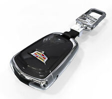 Cadillac FOB remote leather key chain cover case holder hook lobster clasps CTS