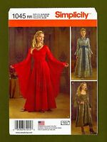 Medieval Queens Gown Costume Sewing Pattern~Bell Sleeves (14-20) Simplicity 1045