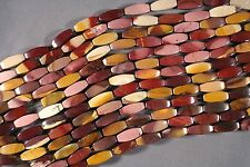 "MOUKAITE JASPER 20x8MM 4-SIDED OVAL RICE BEADS 16"" STRAND MOOKITE MOOKAITE"